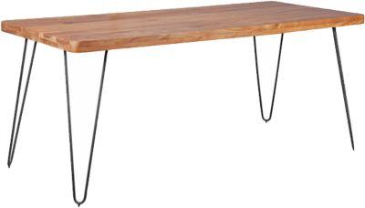 Akazien Esstisch ´´Tree´´ Massivholz/Metall 180x80 cm beige