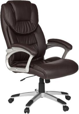 Bürostuhl ergonomisch Schreibtischstuhl Kunstleder Chefsessel Drehstuhl 150 KG