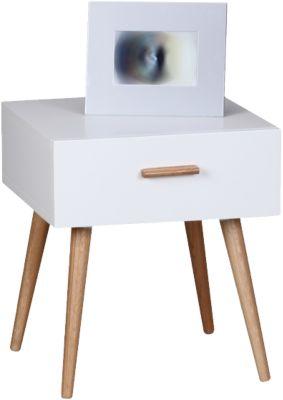 Nachttisch ´´Tekla´´ mit 1 Schublade 40x42 cm weiß
