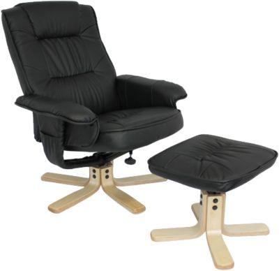 Relaxsessel ´´Malibu´´ mit Hocker schwarz