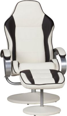 Relaxsessel ´´Speed´´ mit Hocker creme