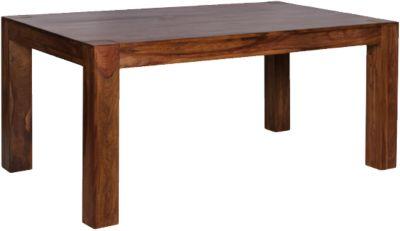 Sheesham Esstisch ´´Kimal´´ Massivholz, ausziehbar 160-240x100 cm braun