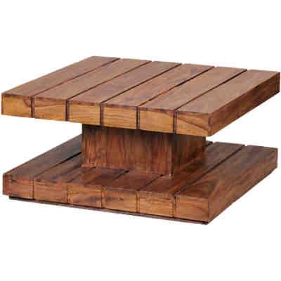 Sheesham sideboard tayo massivholz mit 1 schublade und 1 for Couchtisch 80x80 mit schublade