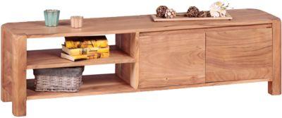 Akazien Lowboard ´´Guliano´´ Massivholz H140 cm beige
