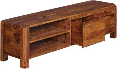 Sheesham Lowboard ´´Guliano´´ Massivholz H140 cm braun