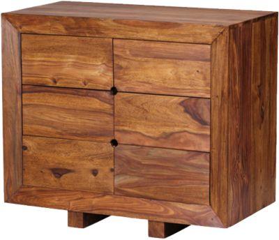 Sheesham Kommode ´´Kolisa´´ Massivholz, mit 6 Schubladen 78x90x46 cm braun