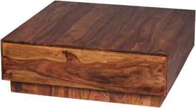 Sheesham Couchtisch ´´Mono´´ Massivholz 90x90 cm braun