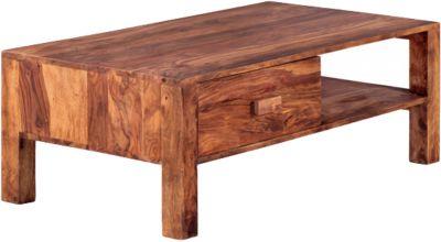 Sheesham Couchtisch ´´Noan´´ Massivholz, mit Schublade 110x60 cm braun