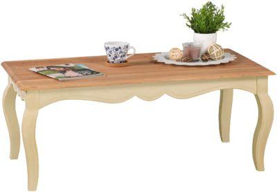 Couchtisch ´´Romance´´ Massivholz 110x60 cm beige
