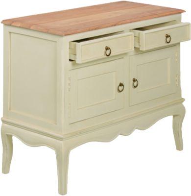 Sideboard ´´Romance´´ Massivholz mit 2 Schubladen und 2 Türen B95 cm beige