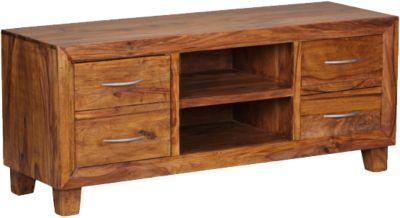 Sheesham Lowboard ´´Taunus´´ Massivholz, mit 4 Schubladen H135 cm braun
