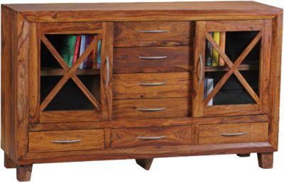 Sheesham Sideboard ´´Taunus´´ Massivholz braun
