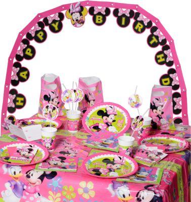 Partyset Minnie Happy Helpers, 56-tlg. rosa