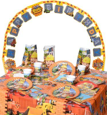 Partyset Bob the Builder, 50-tlg. blau/orange