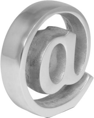 Aluminium Dekoobjekt & Buchstütze ´´ @ Zeichen´...