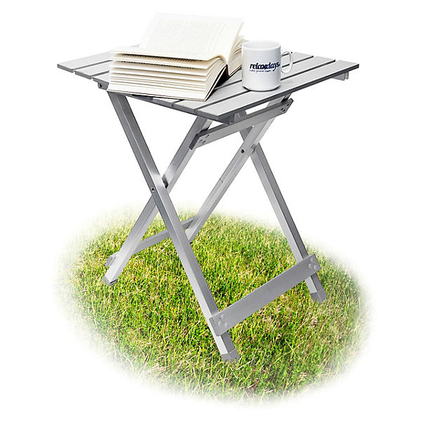 Gartentisch 49x 47 Cm Klappbar Grau Yomonda