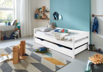 Relita Einzelbett MICHELLE, Buche massiv, weiß lackiert, 90 x 200 cm