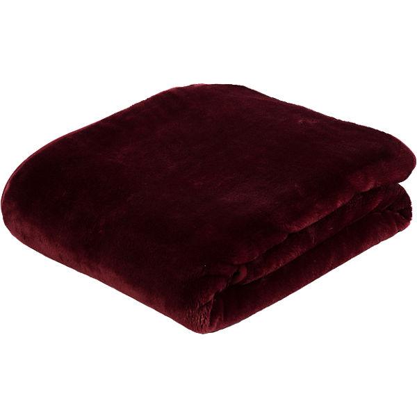 Premium Wohndecke Cashmere Feeling 130x170 Cm Rot Gozze Yomonda