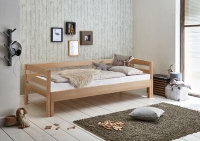 Relita Einzelbett EMILIA, Buche massiv, natur lackiert, 90/180 x 200 cm holzfarben Gr. 90 x 200
