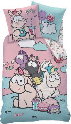 CTI Wende- Kinderbettwäsche NICI Theodor Friends, Renforcé, 135 x 200 cm rosa | Kinderzimmer > Textilien für Kinder > Kinderbettwäsche | Baumwolle | CTI