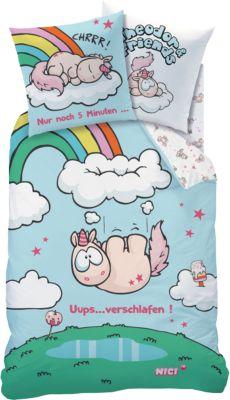 CTI Wende- Kinderbettwäsche NICI Theodor Uups, Renforcé, 135 x 200 cm blau | Kinderzimmer > Textilien für Kinder > Kinderbettwäsche | Baumwolle | CTI