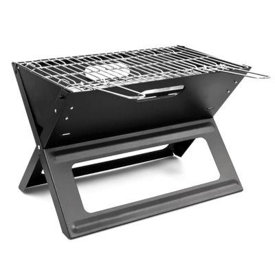 Klapp-Grill tragbar mit Kohleschale schwarz
