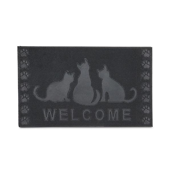 Fussmatte Katzen 45x75 Cm Schwarz Yomonda