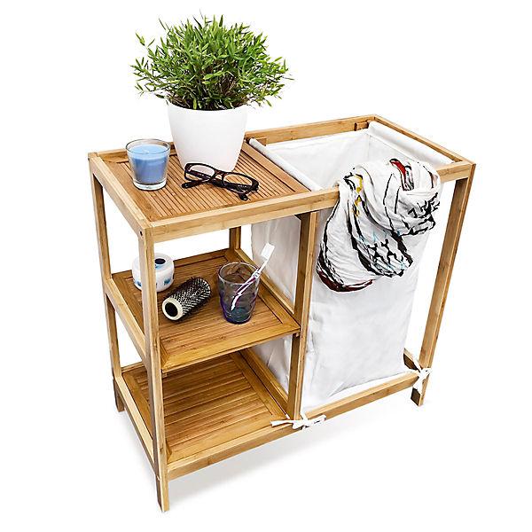 Bambus Bad Regal Mit Wäschesammler