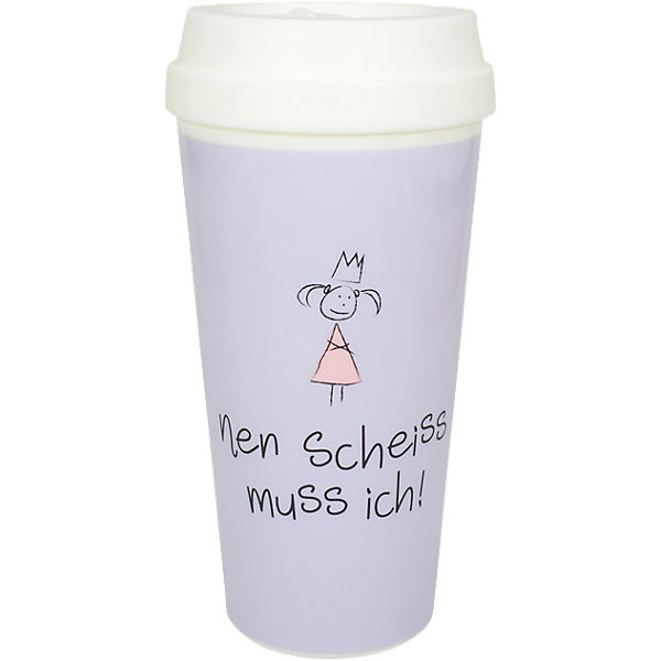 "XXL Coffee to Go Travel Mug ""nen scheiss muss ich"", 450ml"