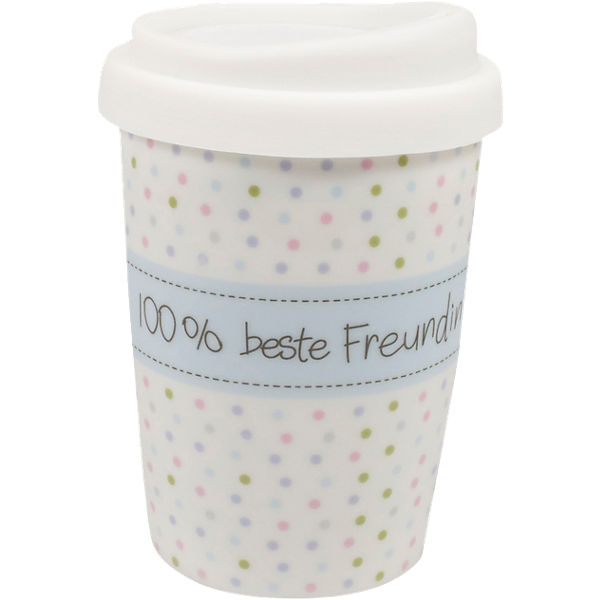 "Coffee to go Travel Mug ""100% beste Freundin"", 250ml"