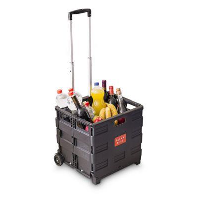Einkaufs-Trolley mit Kiste, klappbar, bis 35kg ...