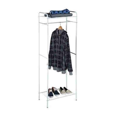 kleiderst nder mit 2 kleiderstangen auf rollen schwarz homcom yomonda. Black Bedroom Furniture Sets. Home Design Ideas