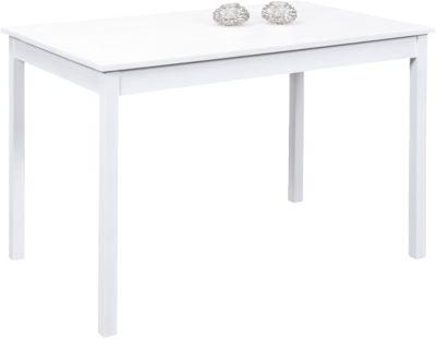 Massivholz Esstisch ´´Granny´´ 118x75 cm weiß