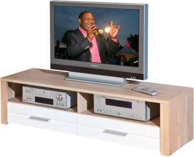 Hochglanz/Sonoma TV-Board Monda 150x40x37 cm weiß