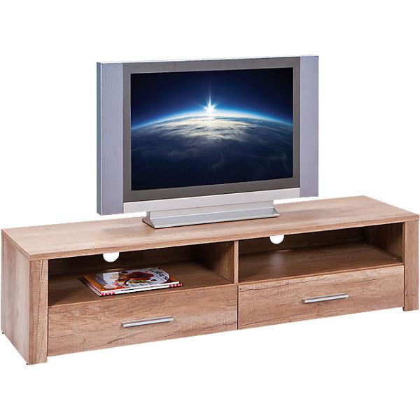 wildeiche tv board monda 150x40x37 cm braun yomonda. Black Bedroom Furniture Sets. Home Design Ideas