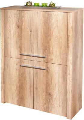 Wildeiche Highboard ´´Monda´´ 107x40x142 cm braun