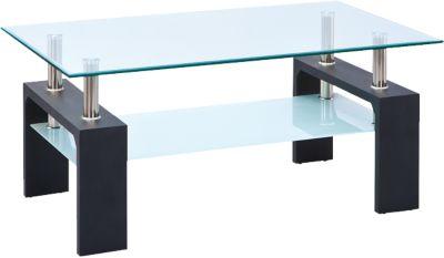 Glas Couchtisch ´´Simla´´ 100x60 cm schwarz