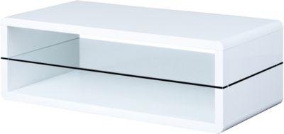 Hochglanz Couchtisch ´´Pilana´´ 120x60 cm weiß