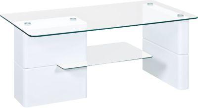 Hochglanz Couchtisch ´´Wendy´´ 110x55 cm weiß