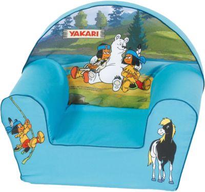 Kindersessel - ´´Yakari´´ hellblau | Kinderzimmer > Kindersessel & Kindersofas | Print | Baumwolle | KNORRTOYS.COM
