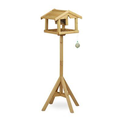 Vogel Futterhaus mit Ständer braun