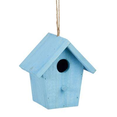 Deko Vogelhaus zum Hängen blau