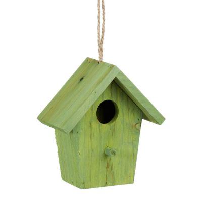 Deko Vogelhaus zum Hängen grün
