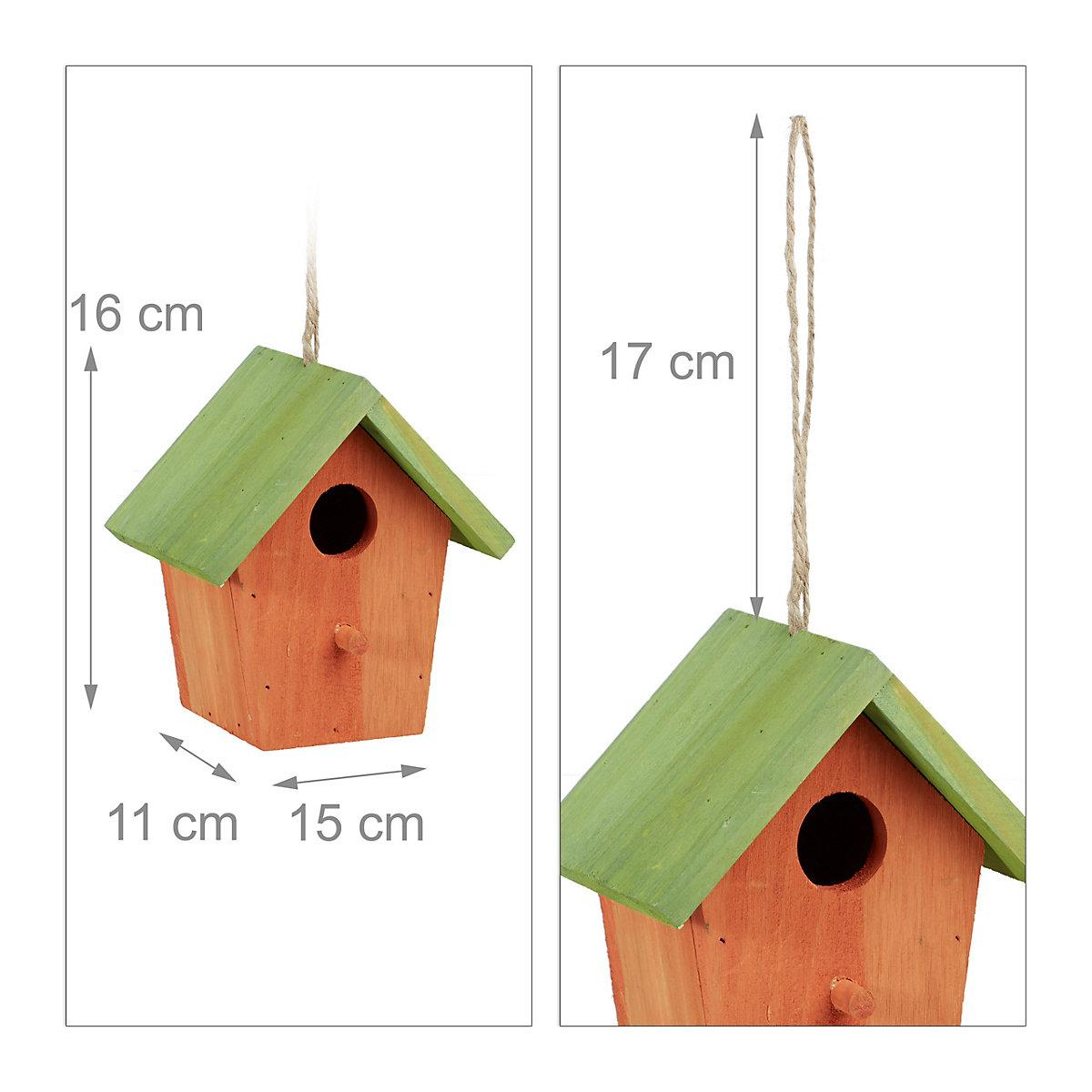 deko vogelhaus zum h ngen orange yomonda. Black Bedroom Furniture Sets. Home Design Ideas