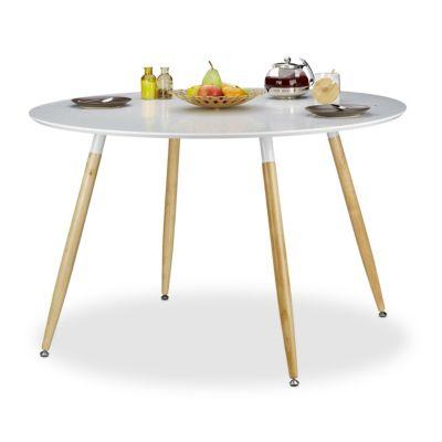Runder Esstisch ´´Arvid´´ 120 cm weiß