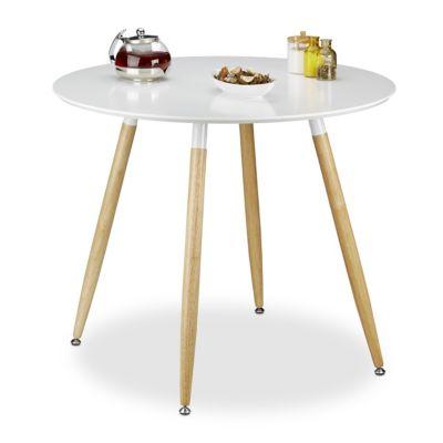 Runder Esstisch ´´Arvid´´ 90 cm weiß