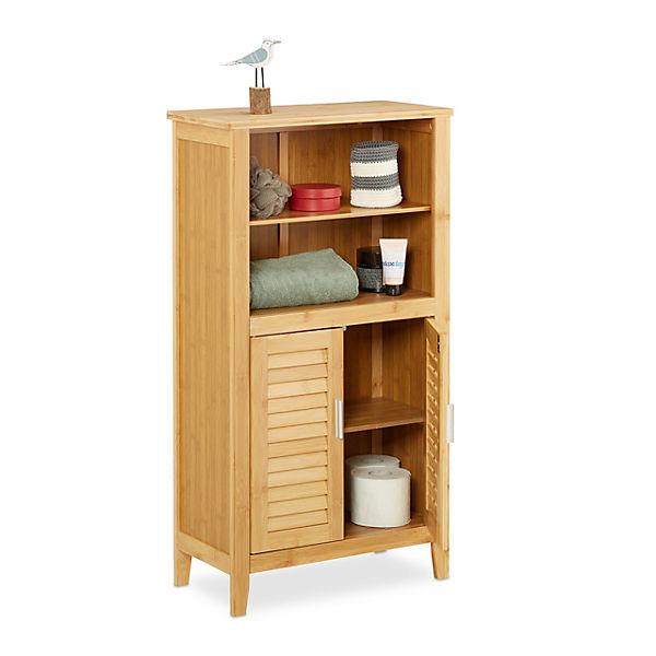 bambus badezimmer stand regal lamell beige yomonda. Black Bedroom Furniture Sets. Home Design Ideas