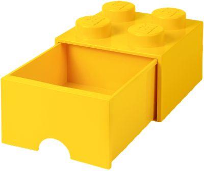 LEGO Schubladenbox Storage Brick 4er Stein gelb | Kinderzimmer > Spielzeuge > Sonstige Spielzeuge | Stein - Kunststoff | LEGO