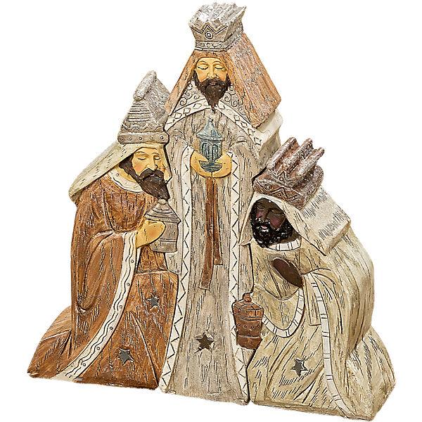 3 tlg krippenfiguren set heilige drei k nige h15 cm braun yomonda. Black Bedroom Furniture Sets. Home Design Ideas