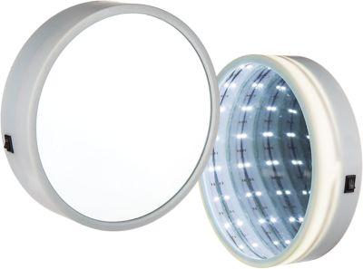 Wandspiegel ´´Lights´´, warmweiß, 18 LEDs, Ø20 cm, batteriebetrieben